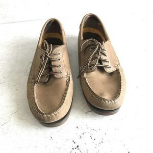 sperry top sider women 7 tan Leather